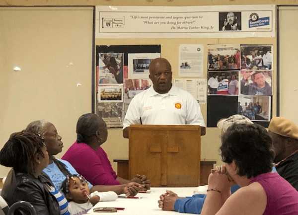 Fire Chief Torain and Chief Hess presented at Weatherly Heights Resident Meeting